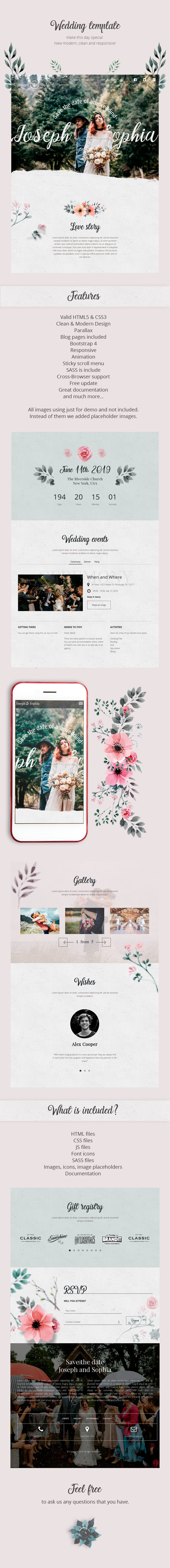 Queen Flowers - Wedding Template - 1